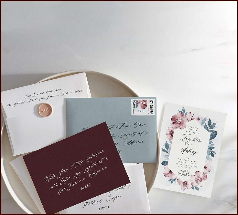 Do Vistaprint Wedding Invitations Come With Envelopes