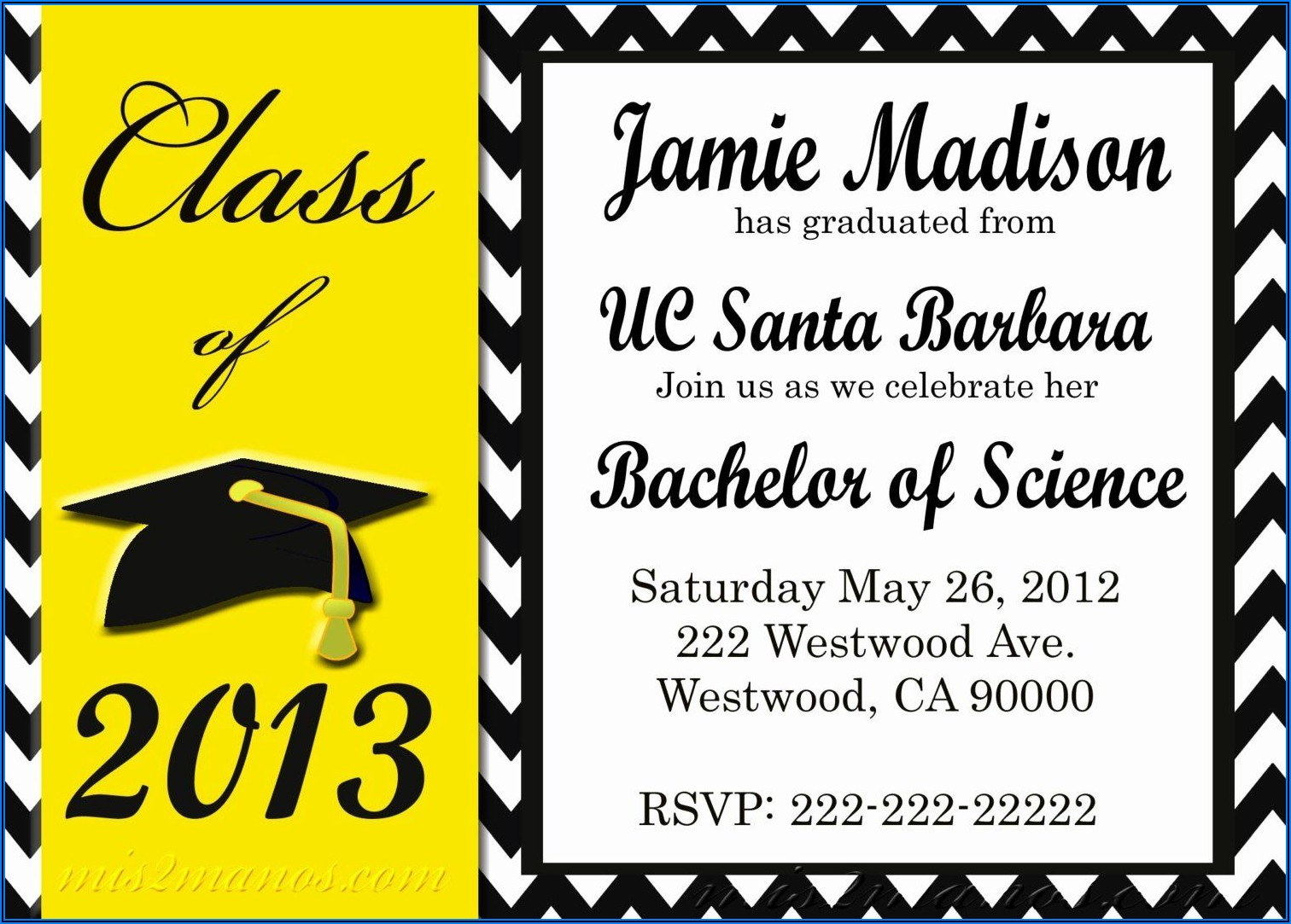 Download Free Graduation Invitation Templates