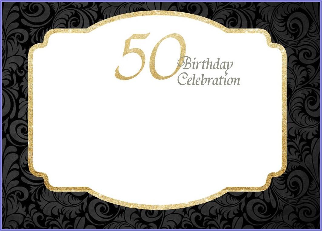 Downloadable Editable 50th Birthday Invitation Templates Free