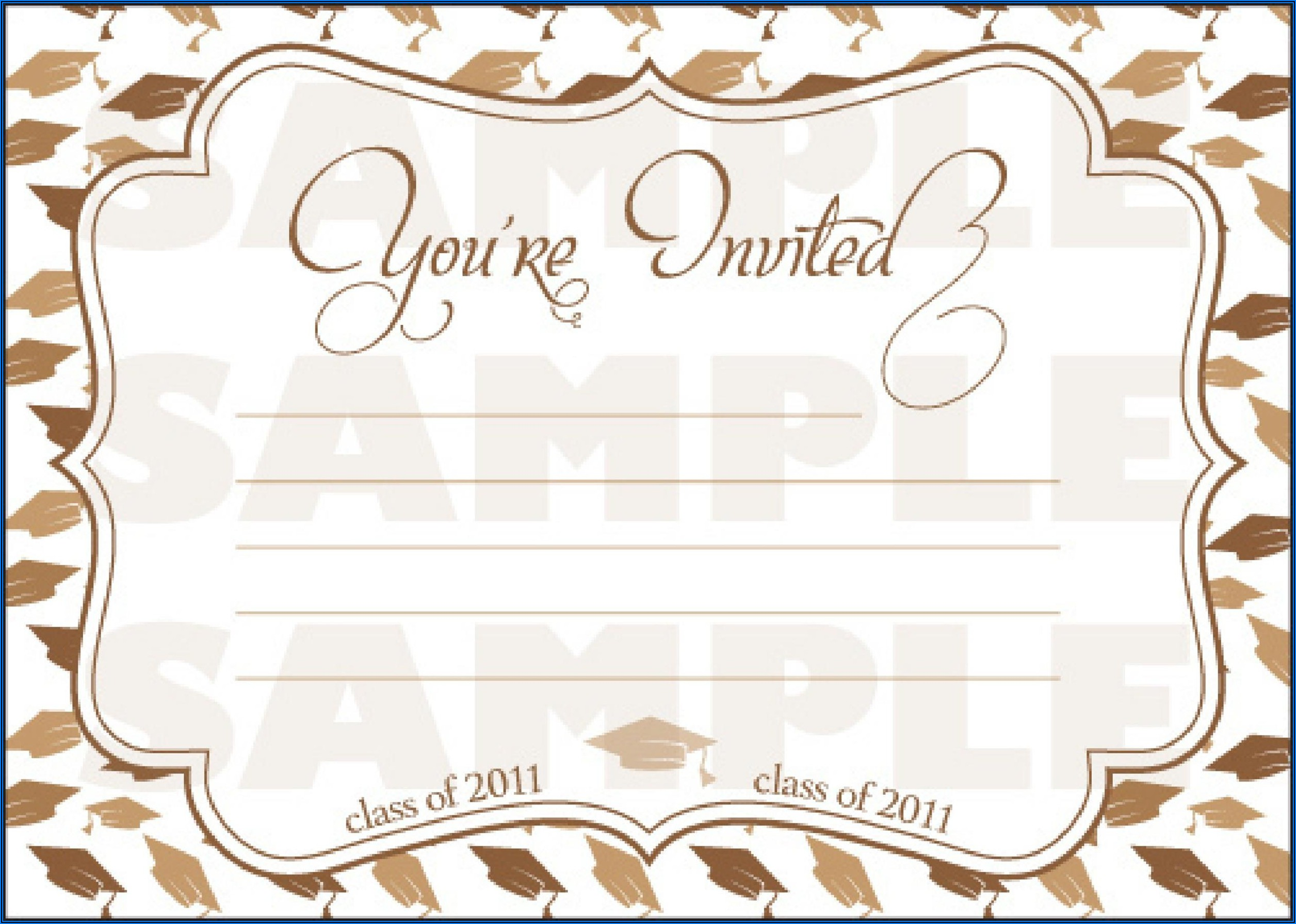 Downloadable Free Graduation Invitation Templates