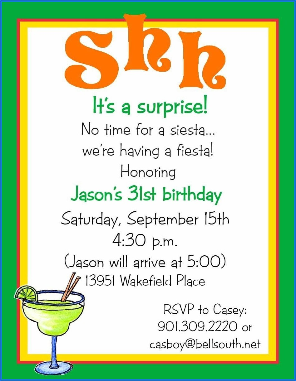 Downloadable Surprise Birthday Invitation Templates