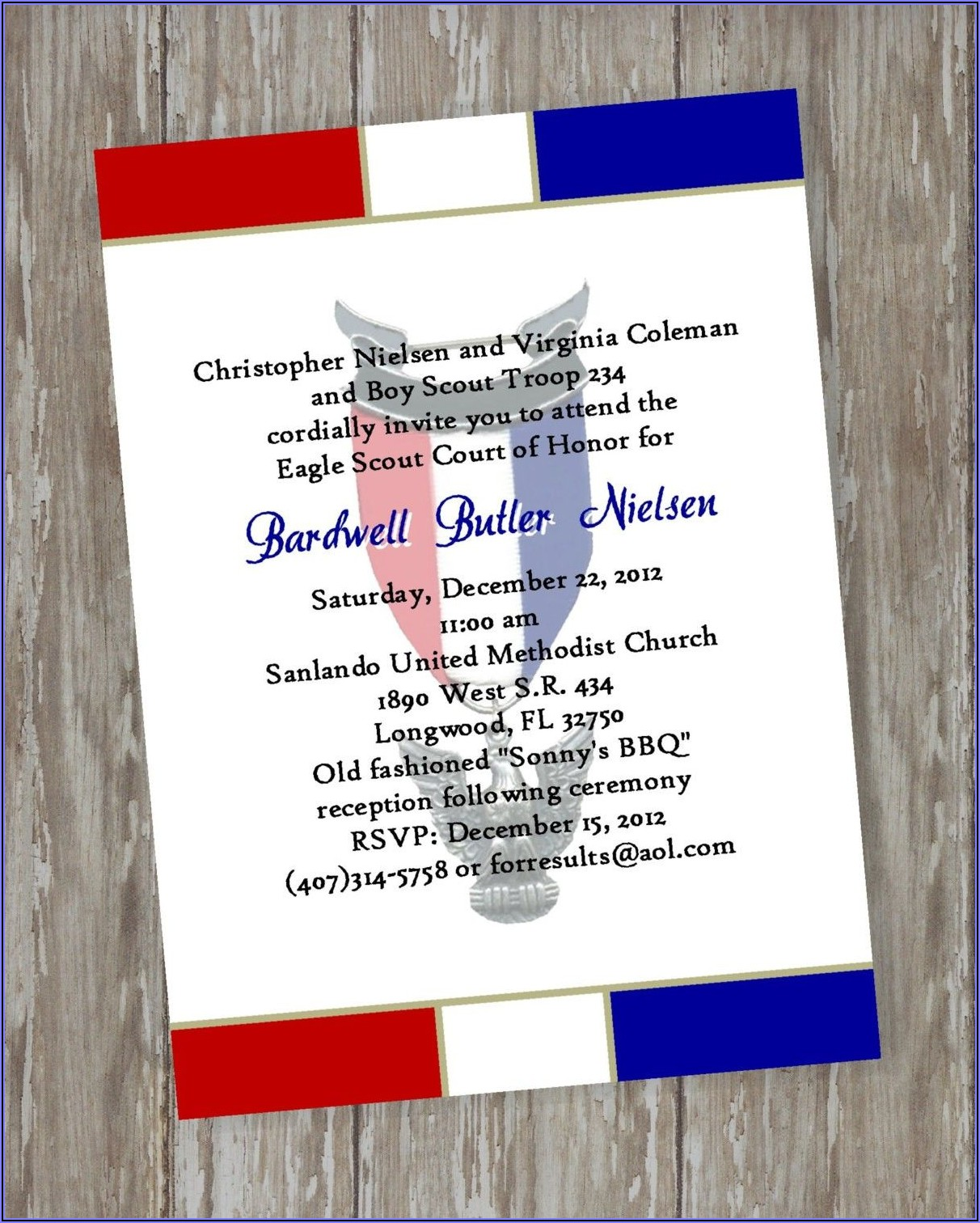 Eagle Scout Celebration Invitations