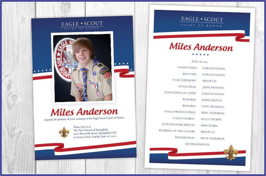 Eagle Scout Ceremony Invitations