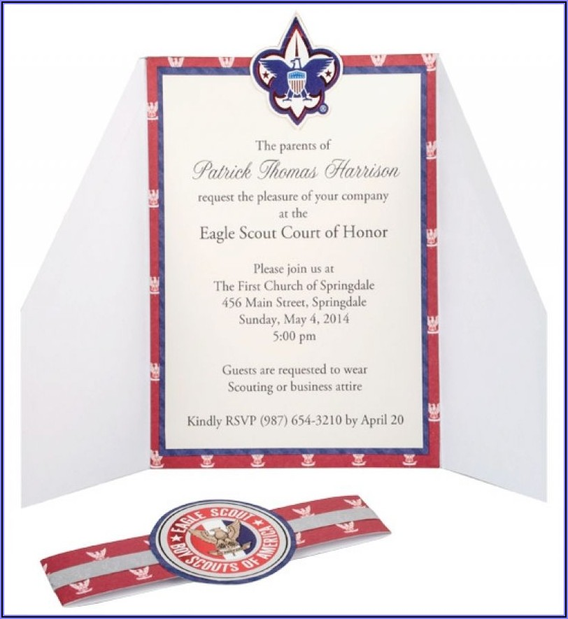 Eagle Scout Court Of Honor Invitation Wording