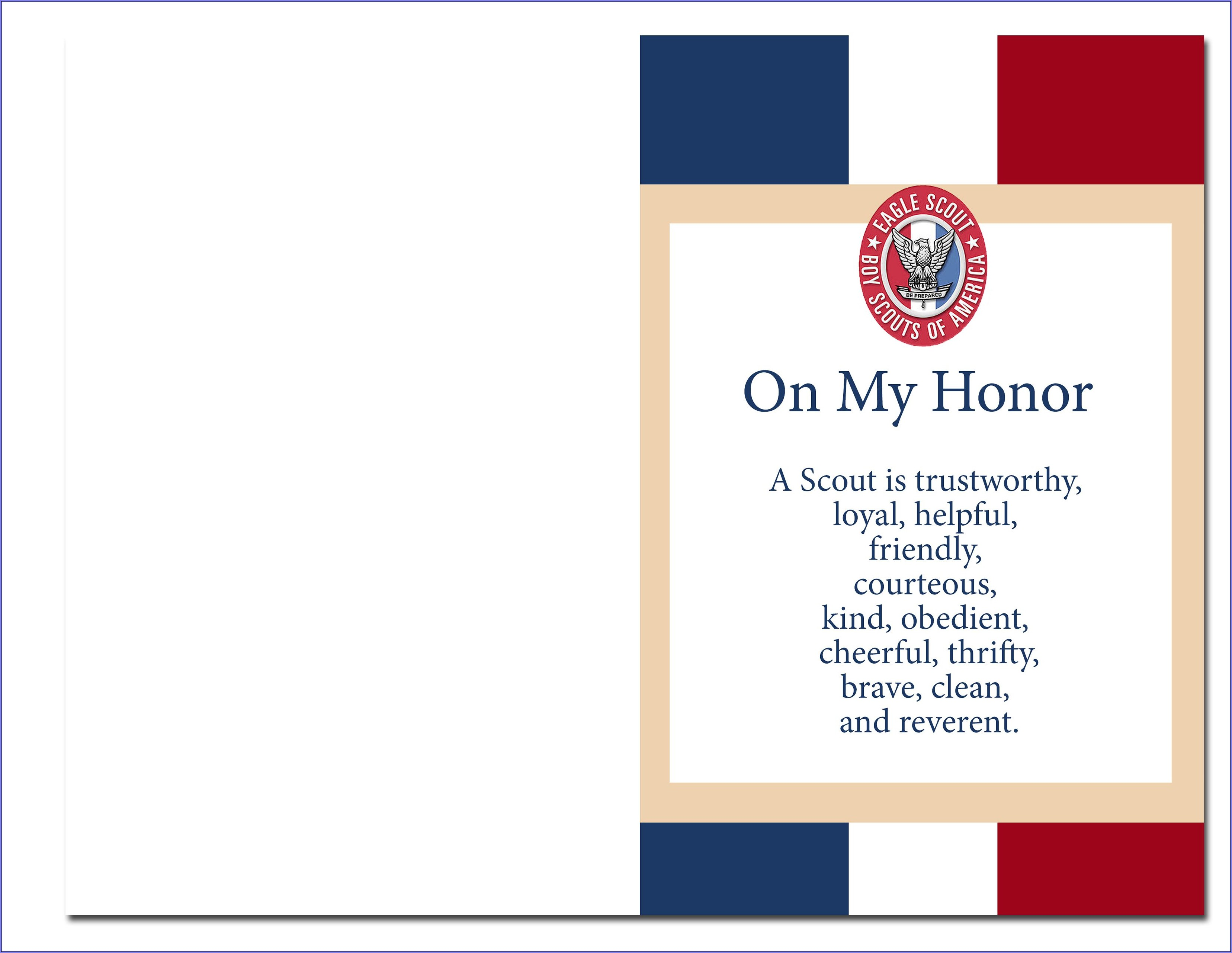 Eagle Scout Court Of Honor Invitations Downloadable