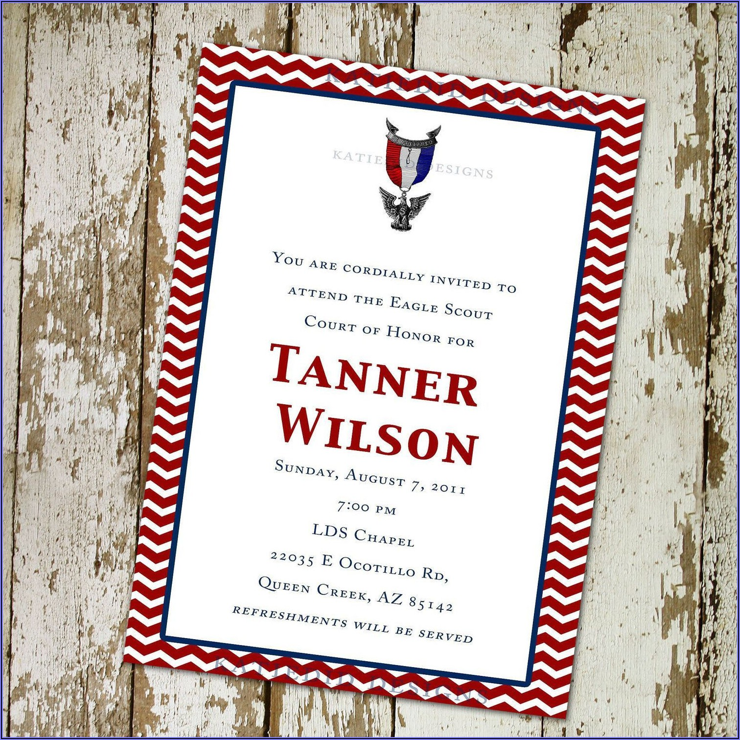 Eagle Scout Invitation Free Template