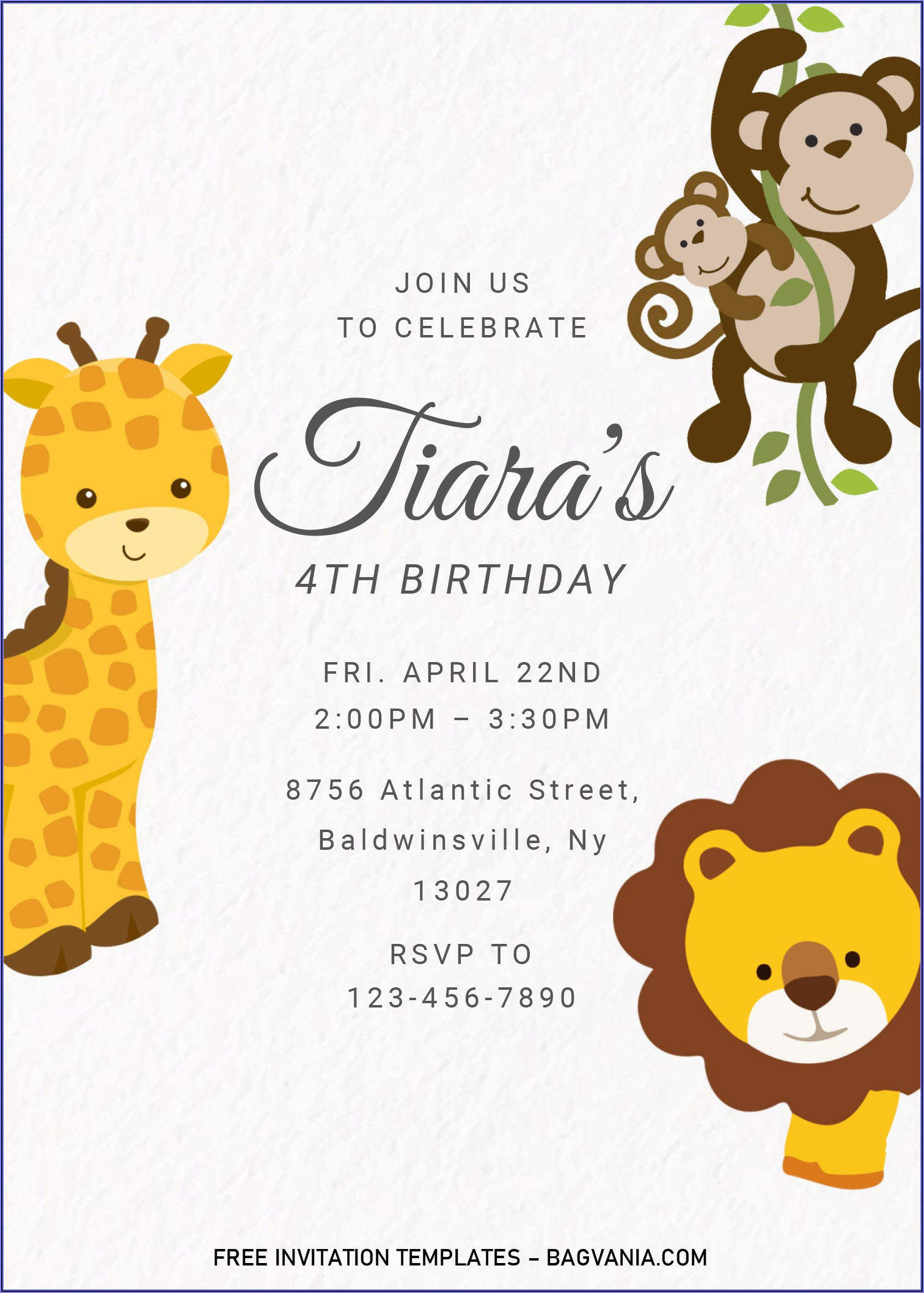 Editable Birthday Invitations Templates Free Word