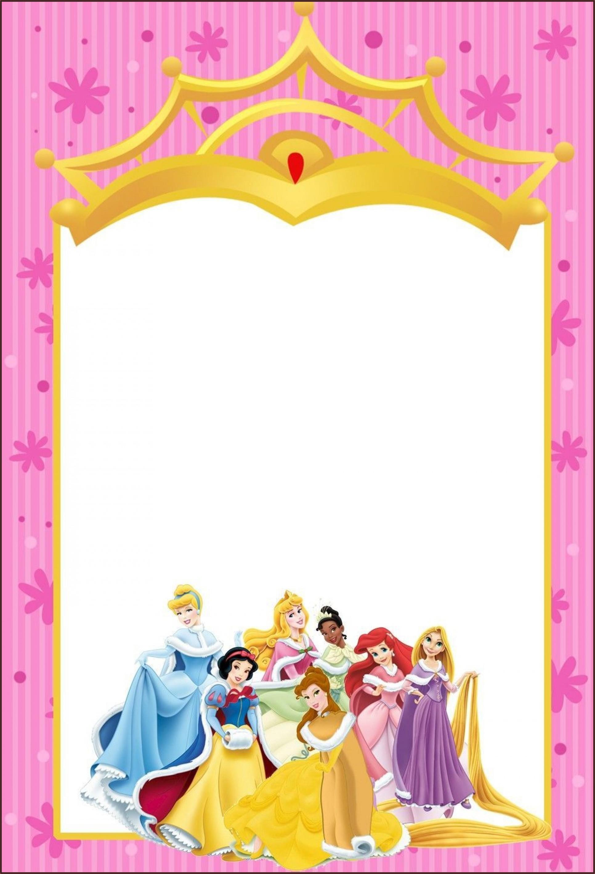 Editable Disney Princess Invitation Template