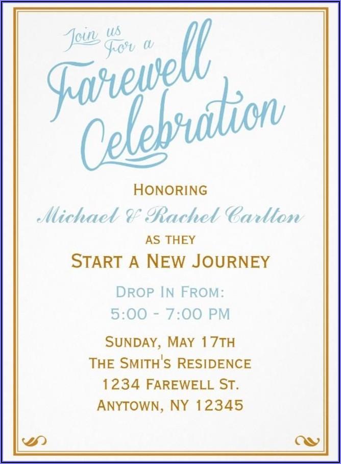 Editable Farewell Invitation Templates Free