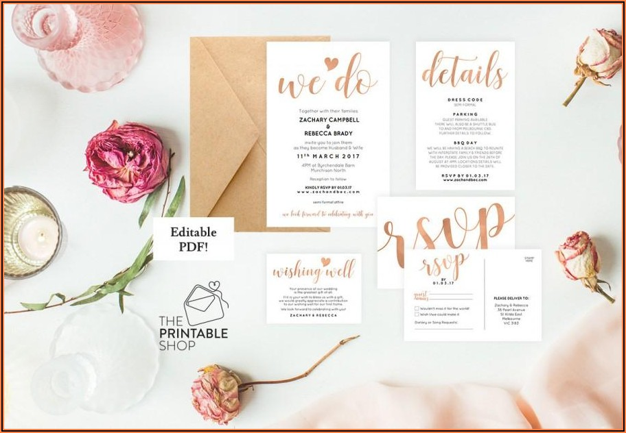 Editable Floral Wedding Invitation Templates Free Download