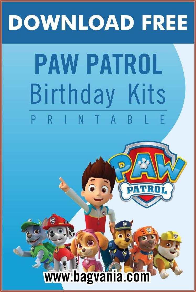 Editable Paw Patrol Birthday Invitation Template Free