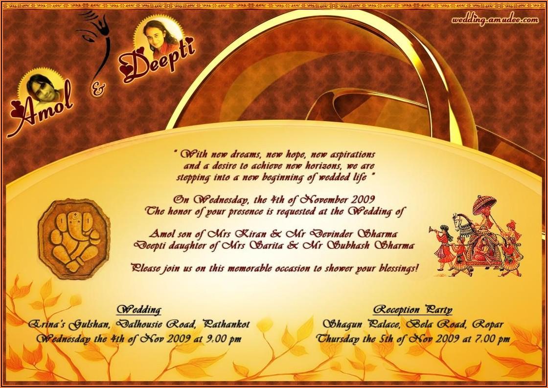 Editable Wedding Invitation Templates India