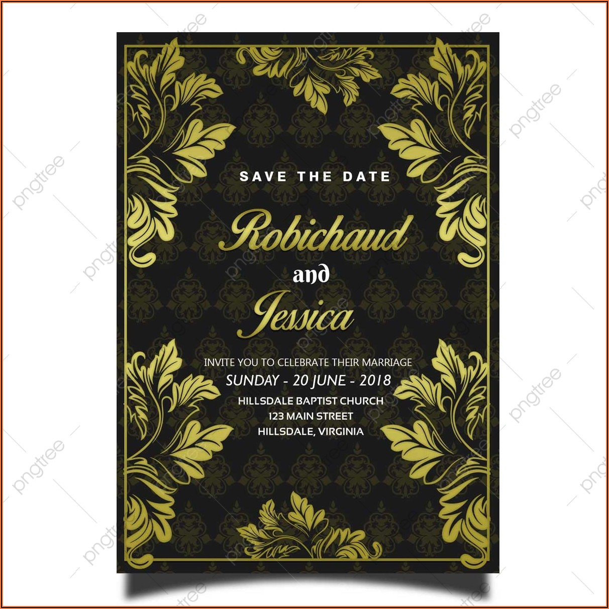 Elegant Wedding Card Background