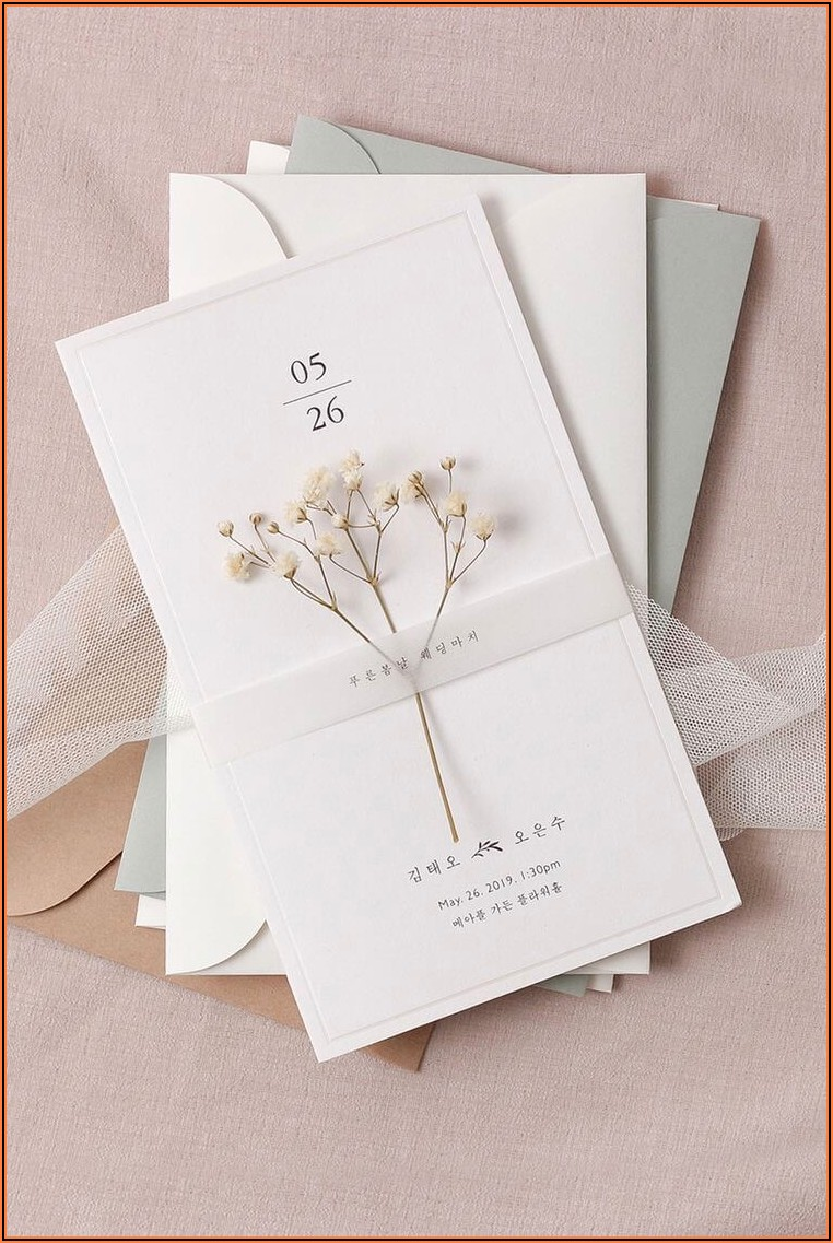 Elegant Wedding Card Ideas