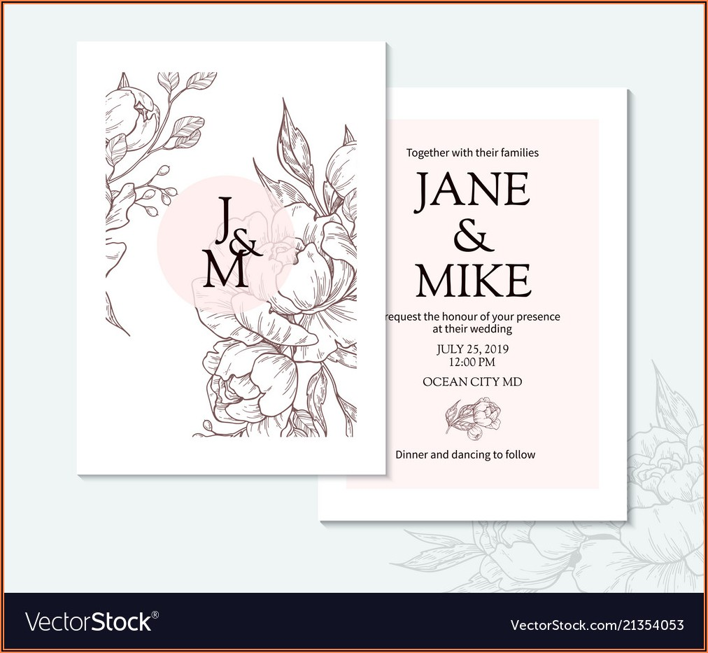 Elegant Wedding Card Template