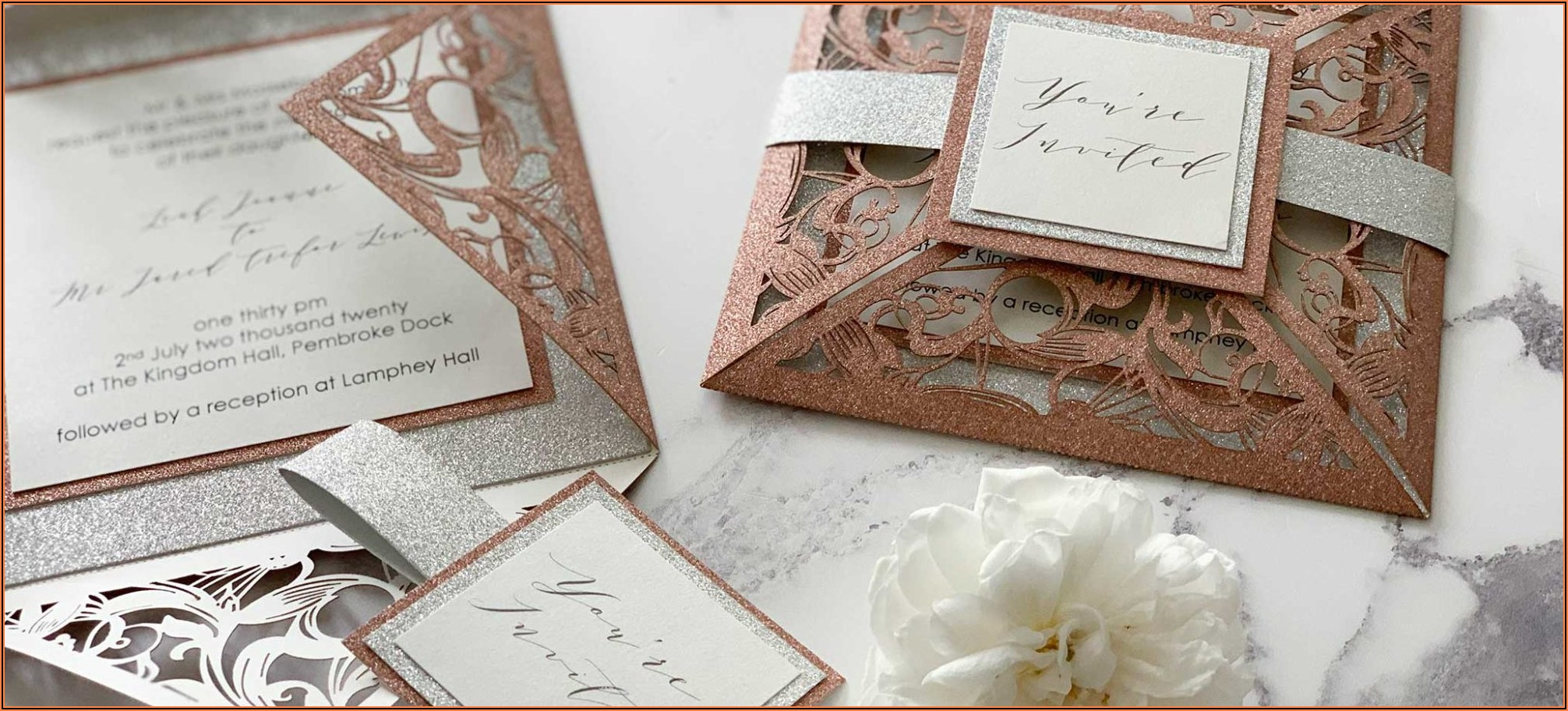 Elegant Wedding Invitation Cards Uk