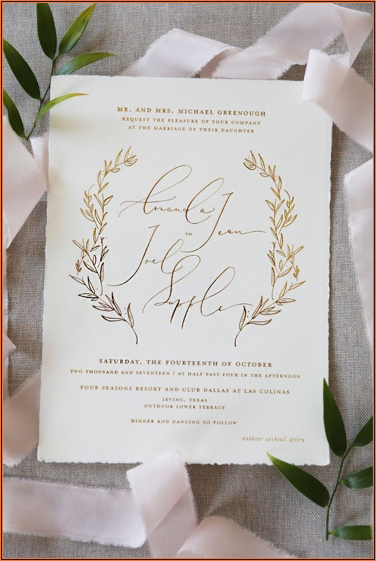 Elegant Wedding Invitations Pinterest