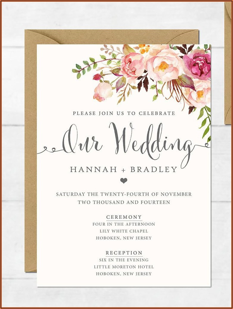 Elegant Wedding Invitations Templates Free