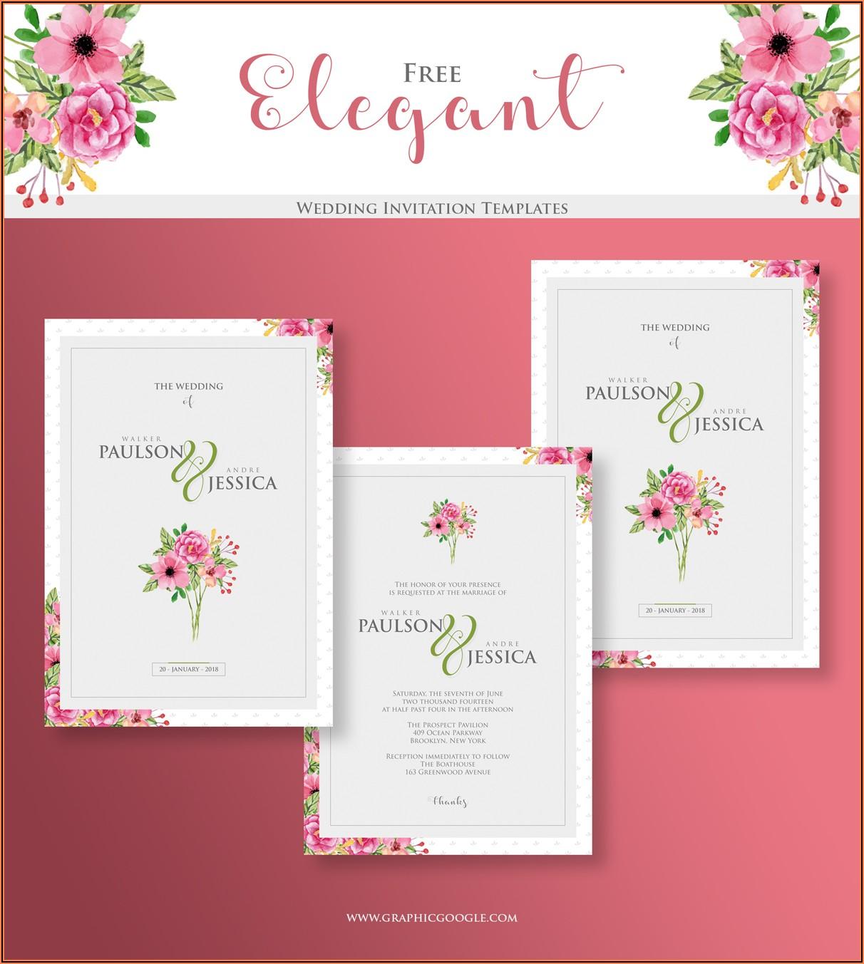 Elegant Wedding Invitations Templates