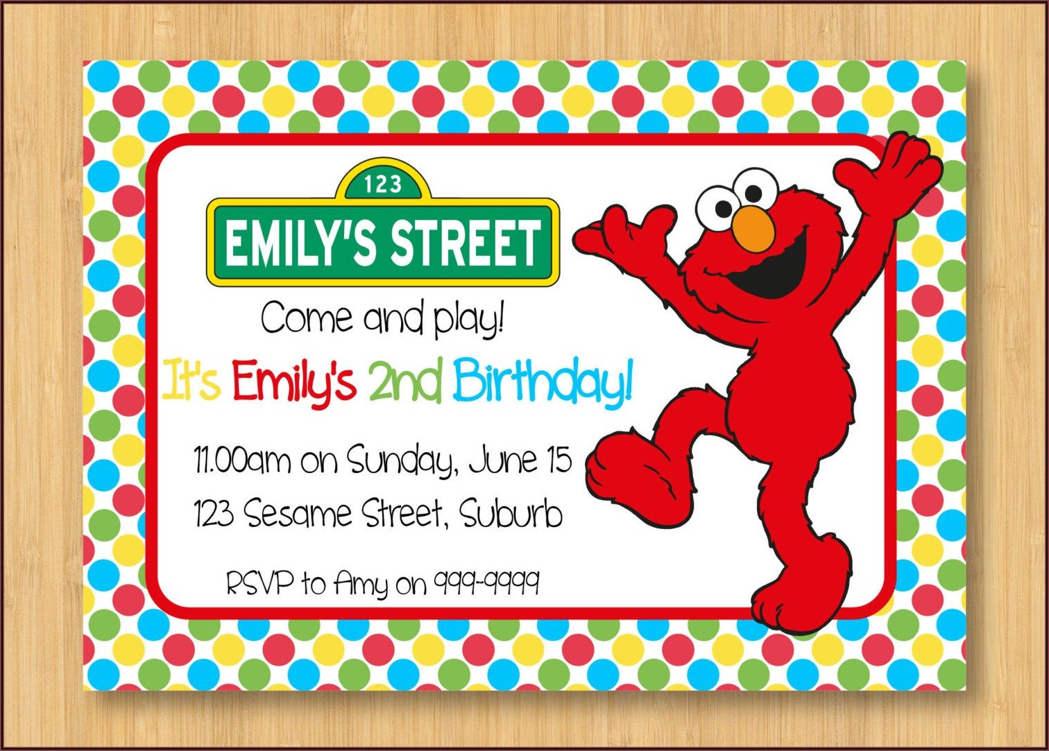 Elmo 1st Birthday Party Invitations
