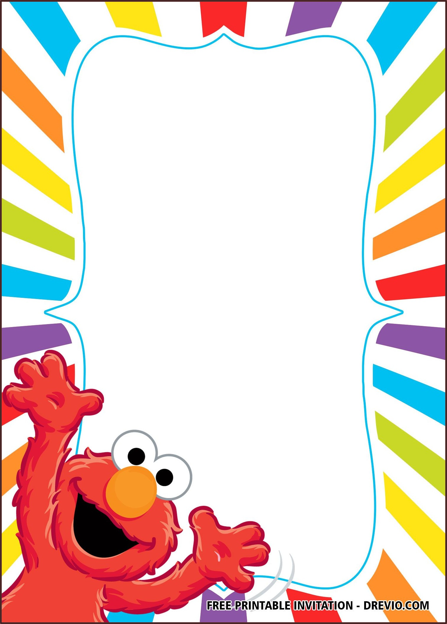 Elmo Birthday Invitation Templates Free