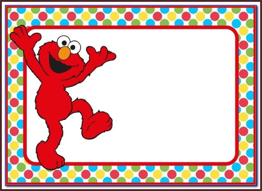 Elmo First Birthday Invitation Templates
