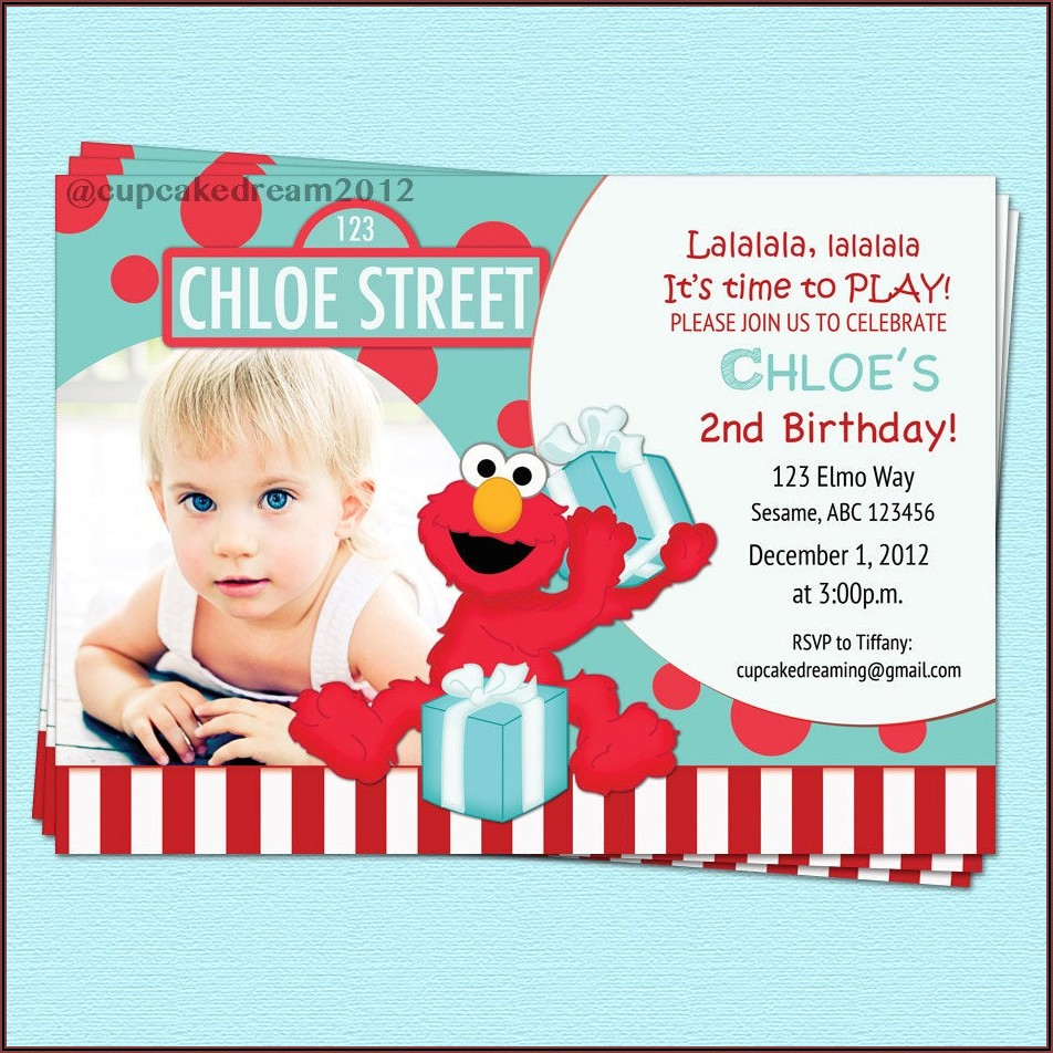 Elmo First Birthday Invitation Wording