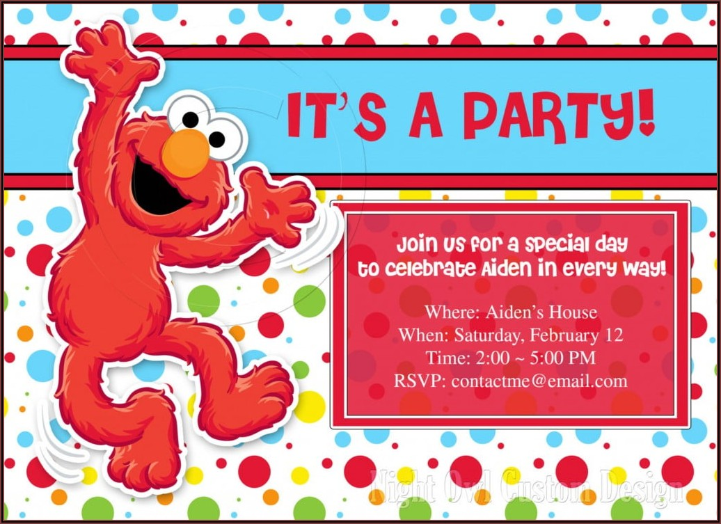 Elmo Personalized Invitations 1st Birthday