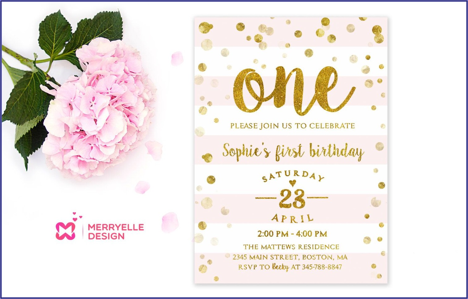 Etsy 1st Birthday Invitations Girl
