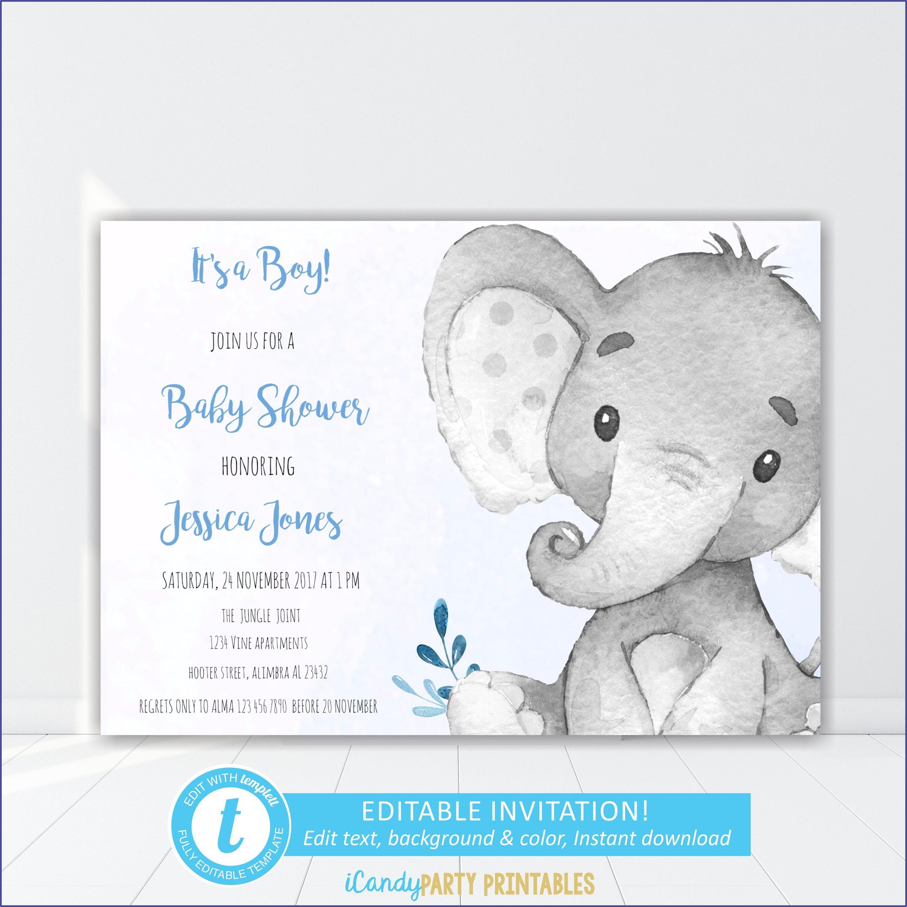 Etsy Baby Boy Baptism Invitations