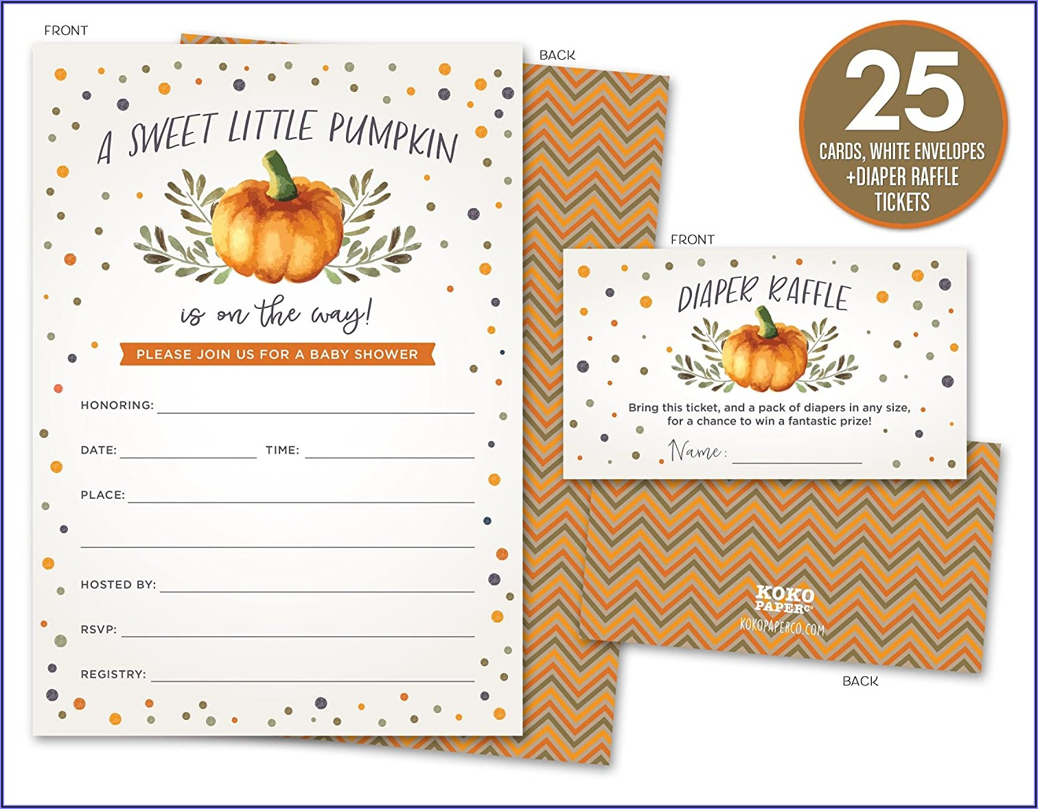 Fall Gender Reveal Invitations Free