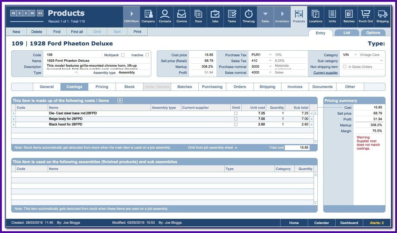 Filemaker Pro Database Templates
