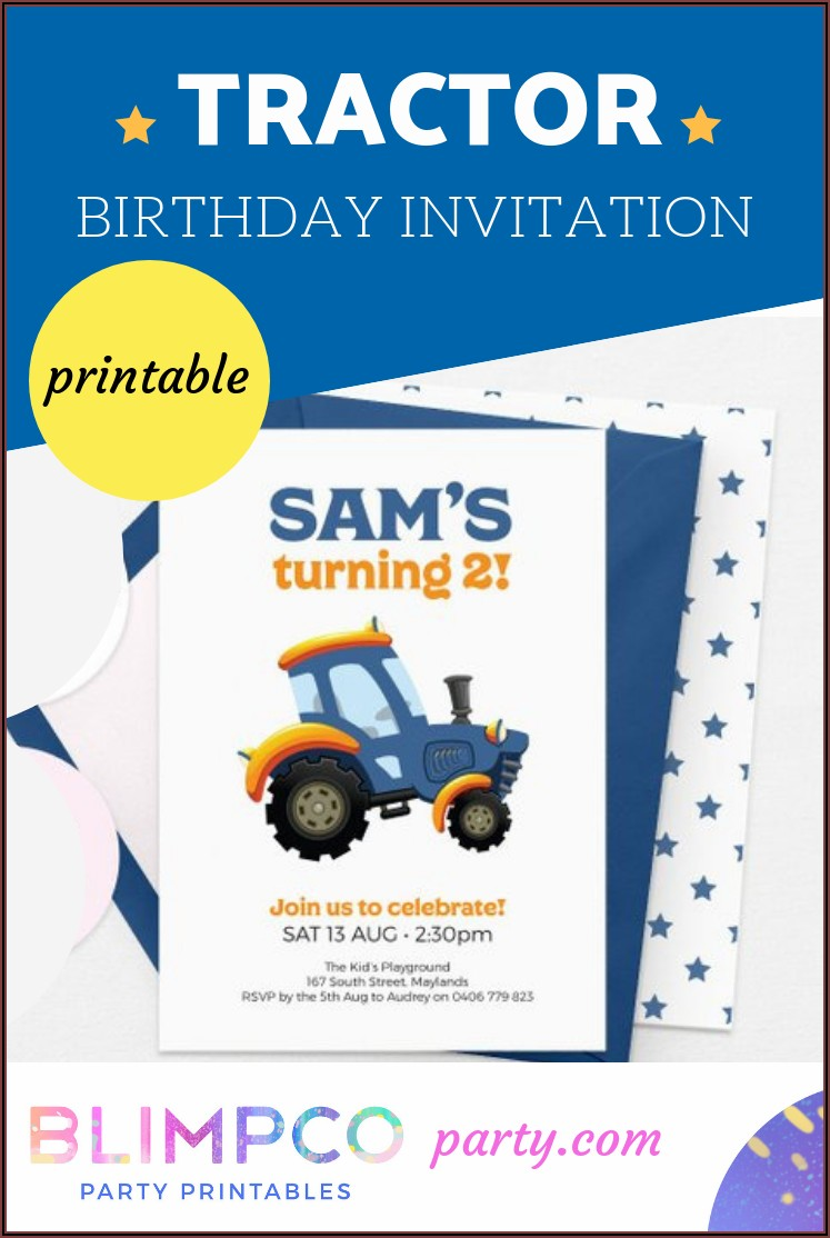 First Birthday Invitations Boy Farm