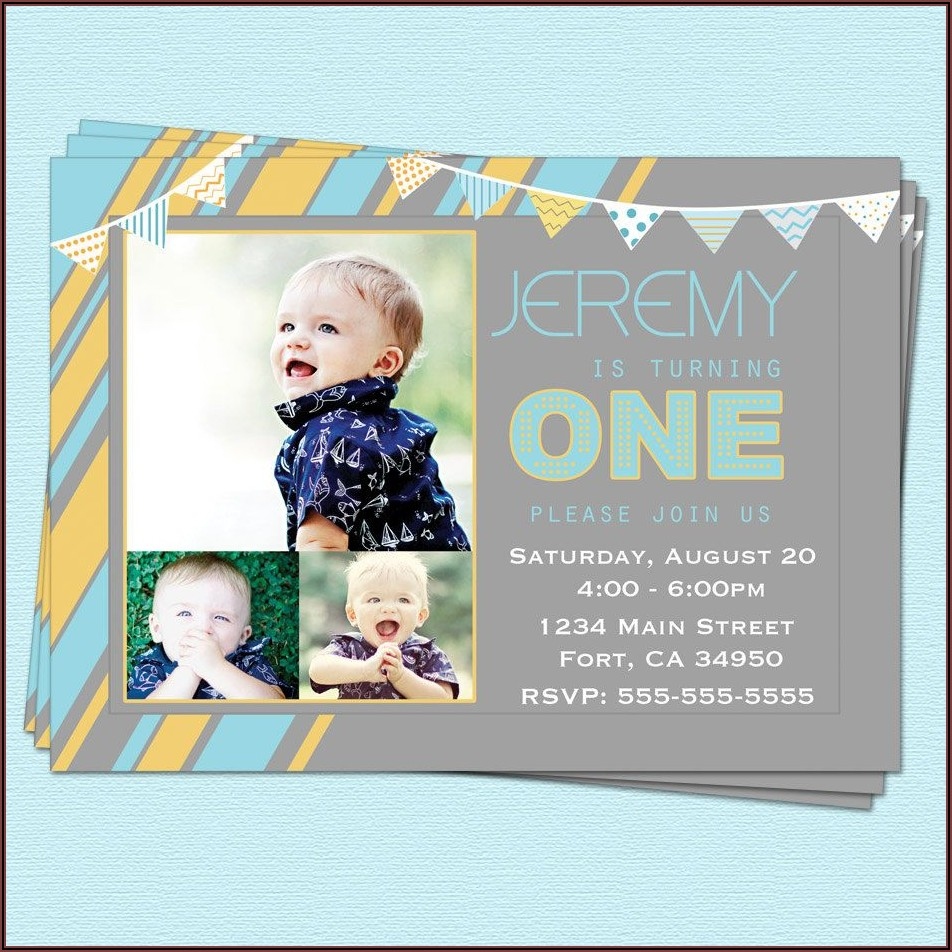 First Birthday Invitations Boy Printable