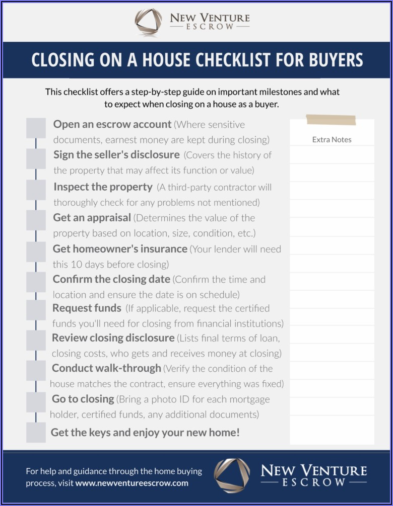 First Time Home Buyer Checklist Template