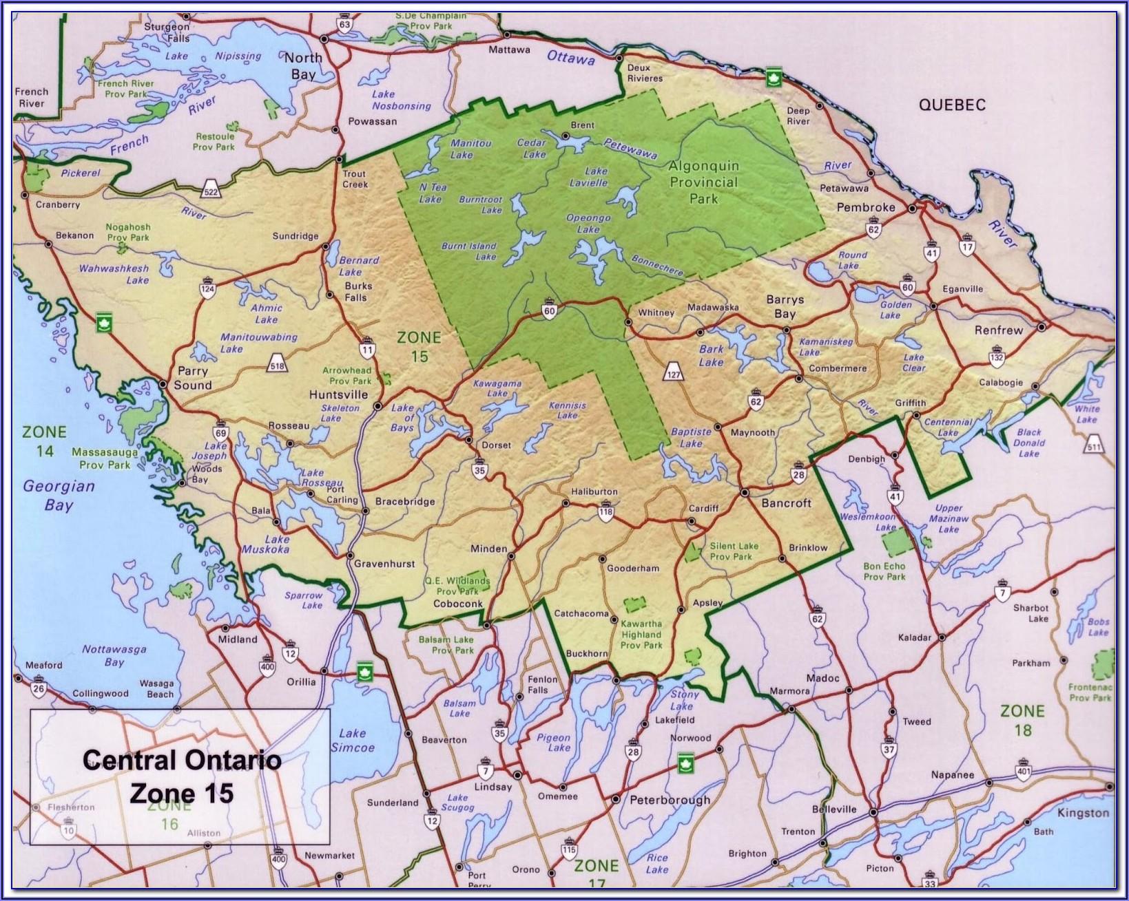 Fishing Hot Spots Maps Ontario