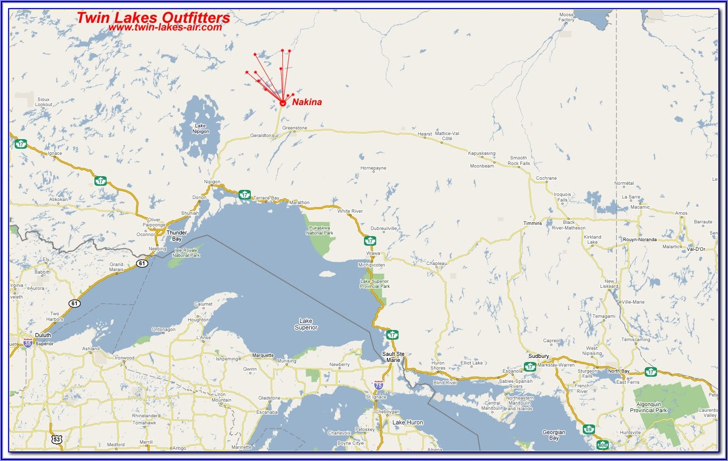 Fishing Maps Ontario Canada