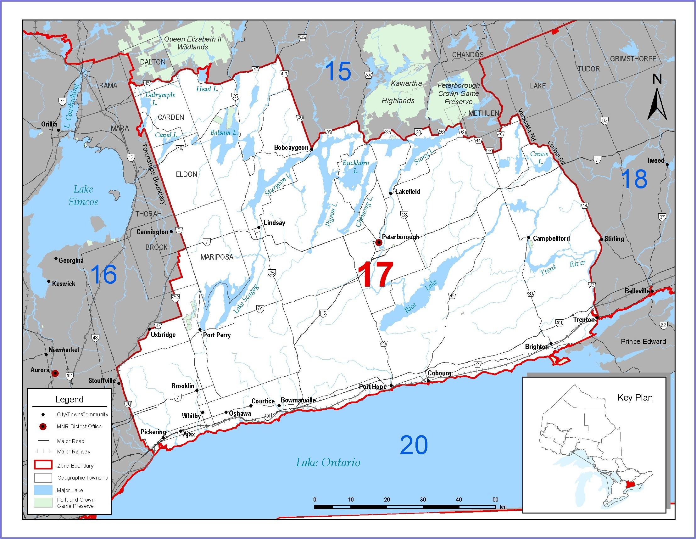 Fishing Zone Maps Ontario