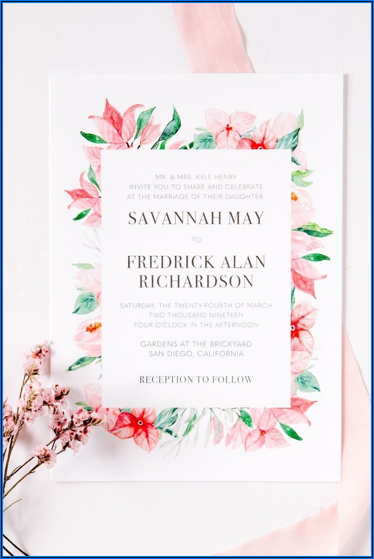 Floral Designs Wedding Invitations