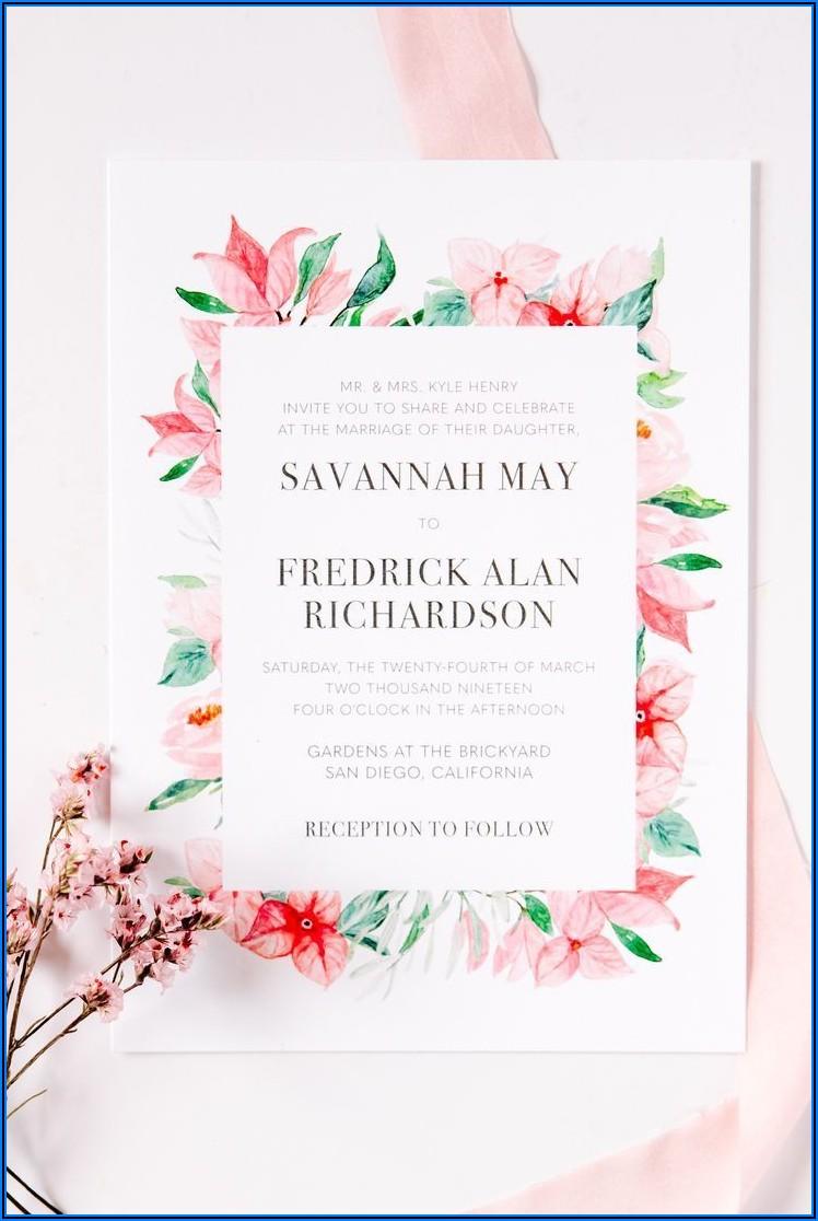 Floral Designs Wedding Invitations