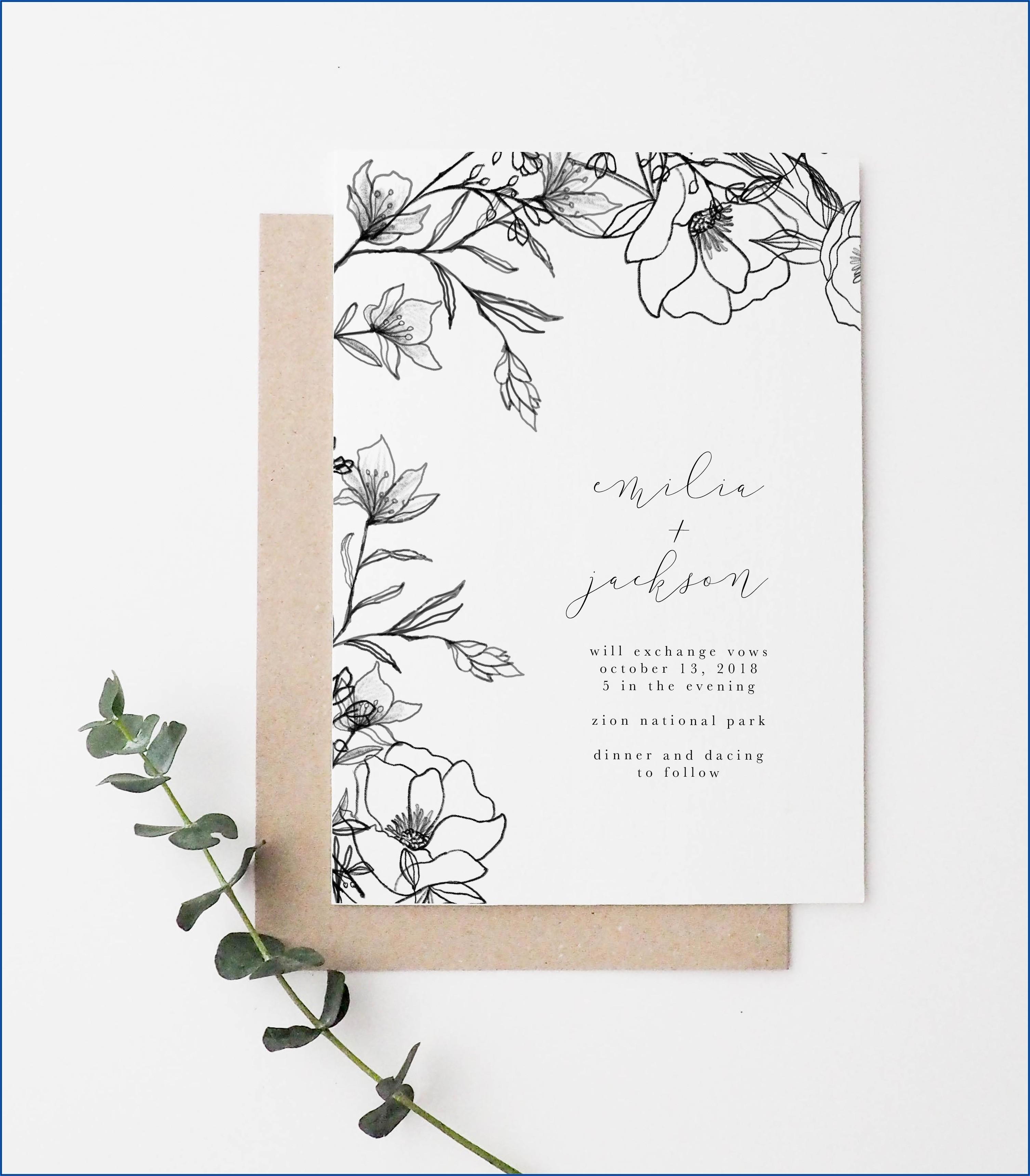 Floral Vintage Wedding Invitations