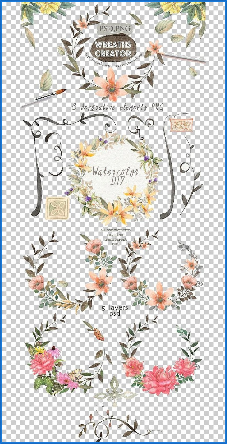 Floral Wedding Invitation Cover Design