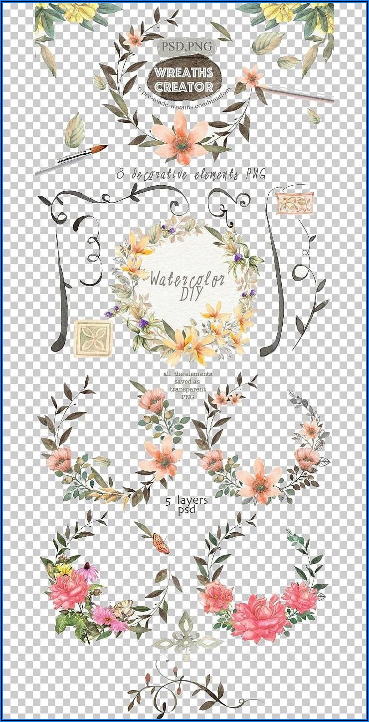 Floral Wedding Invitation Cover Design