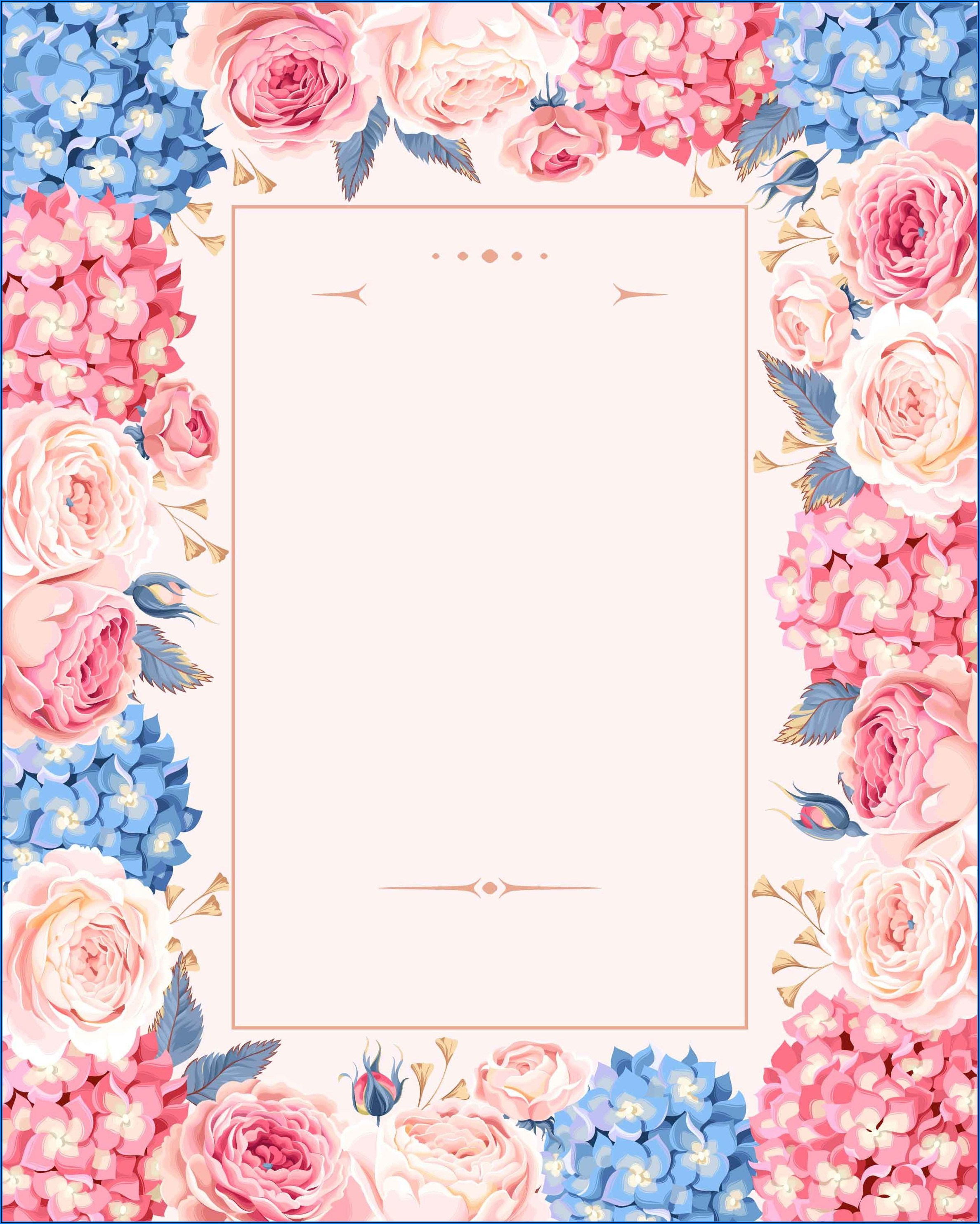 Floral Wedding Invitation Design Background