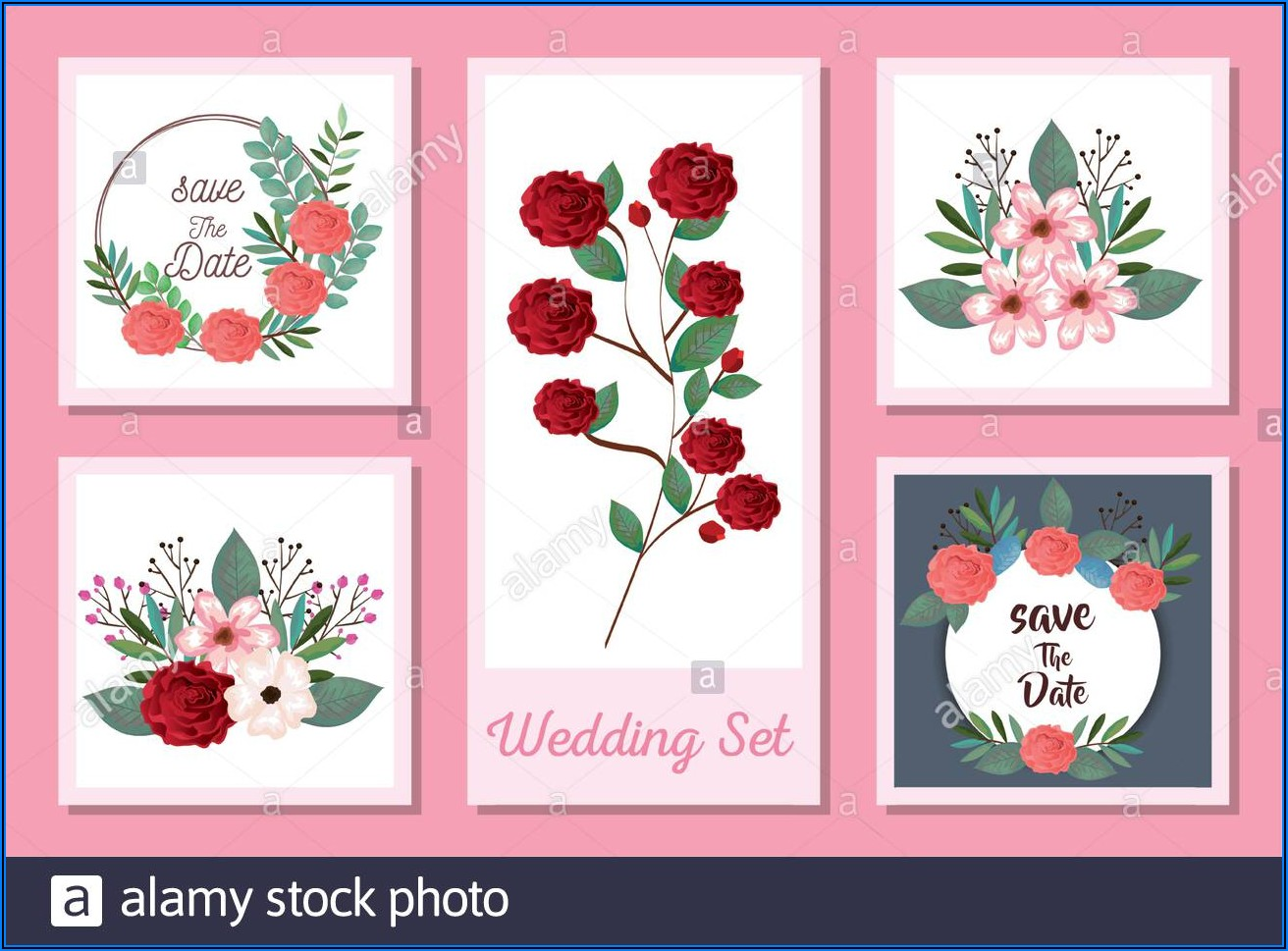 Flowers Wedding Invitation Designs