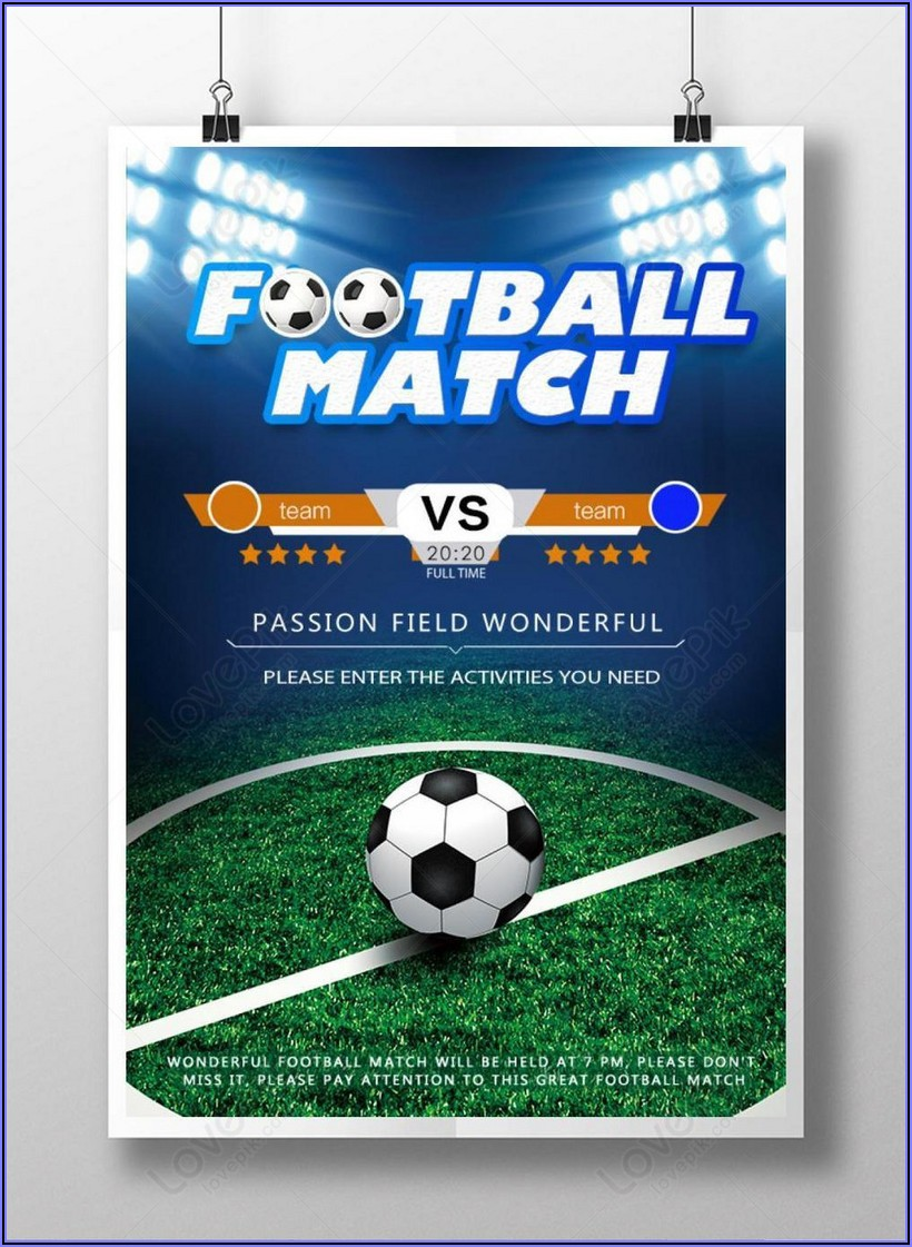 Football Poster Template Download