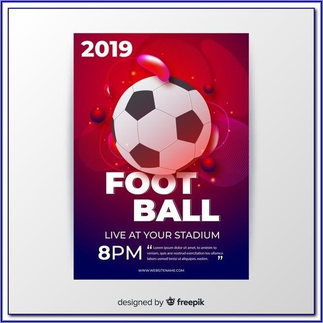 Football Poster Template Psd