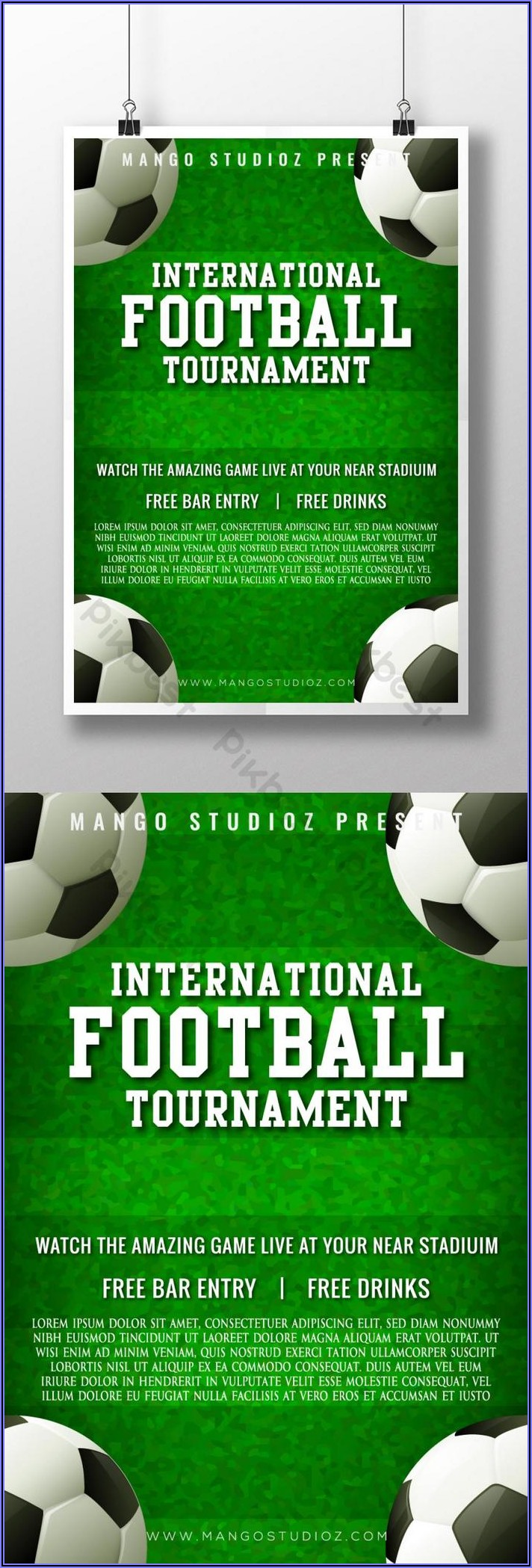 Football Tournament Poster Template Free