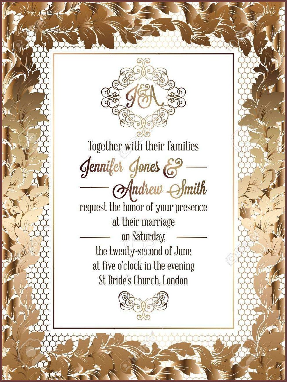Formal Invitation Card Design Template