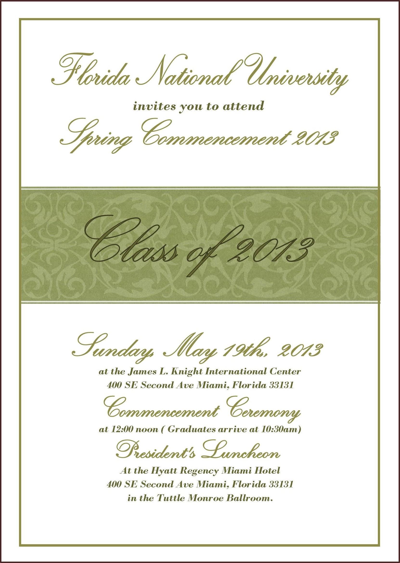 Formal Invitation Card Graduation Ceremony